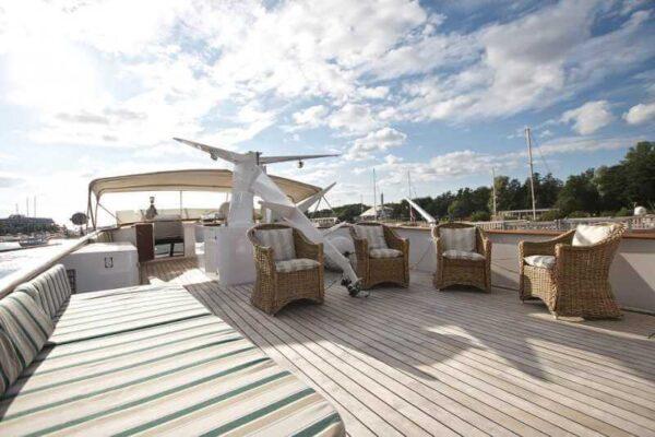 Яхта Broward верхняя палуба